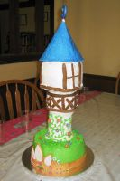 Tower cake by Jennfrog
