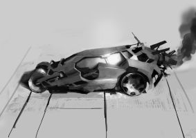 Batmobile design by paooo