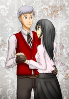 Akihiko + OC for sourumeito by mumpo
