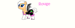 My little Sonic: Rouge by poppetrocks278