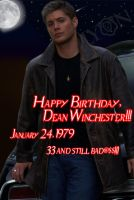 Happy B-Day Dean X3 by TheDocRoach