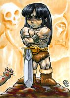 Chibi CONAN copic by Snigom