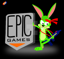 Jazz Jackrabbit with an Epic logo by smithandcompanytoons