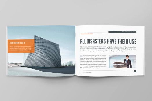 Business Horizontal Brochure by Mikingers