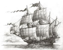 Ye Fast Galleon by JanBoruta