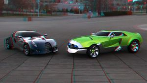 Cars 3D Anaglyph 2nd by 12055