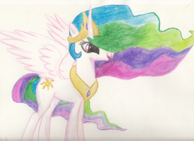 Celestia Watercolor by kittyhawk-contrail