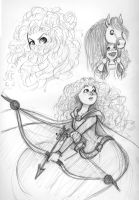 A page of Merida! by Pharoahess