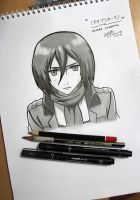 MIKASA ACKERMAN - Attack on Titan by Zer0-Slayer