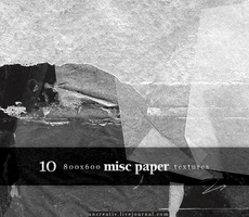 10 misc paper 800x600 textures by Sarytah