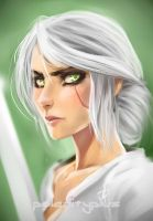 An Ashen haired girl by polarityplus
