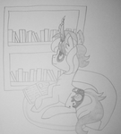 Drawing Challenge: Books and Books and More Books by TheLostAngeI