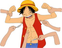 Tickling Luffy by Gargalite