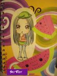 Watermelon Notebook by Sky-Riot