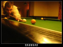 Dean Playing Pool by Baz619