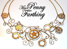 Steampunk Cogs Collar Necklace by MissPennyFarthing