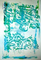 Arabic silkscreenin silkscreen by catwi