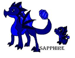 sapphire dragon for dragonvale by kelseyandfreinds99