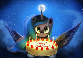 Luna's Birthday Gift by AnticularPony