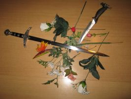 Flowers and Blades by Wife-Of-Legolas