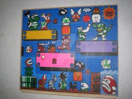 Super Mario Bead Painting by Zakkyy
