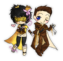 Solia - Danncy and hubby Chibi by hiei14