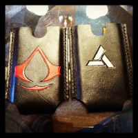 Assassin's Creed Abstergo IPhone case by MerrillsLeather