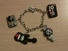 Bangle with accessories of music fimo by bimbalove81