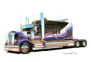 Gigantic Kenworth by SeawolfPaul