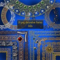 30 png decorative frames by DiZa-74