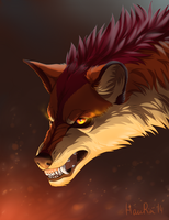 Fire wolf by HauRin