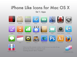 iPhone Like Icons for Mac OS X by zorrilla069