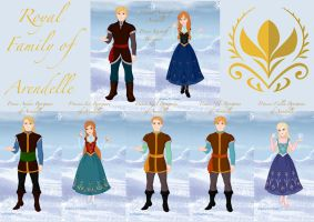 Royal Family of Arendelle by MelATCK