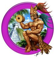Mayan Bodybuilder by darthstrider