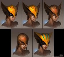 hawk girl masks by marconelor