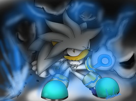 silver the hedgehog by andreahedgehog