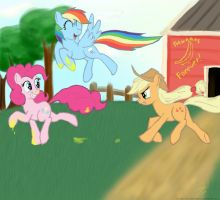 AJ loves bananas by rule1of1coldfire