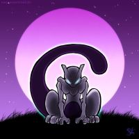 Purple Night - Mewtwo by Merinid-DE