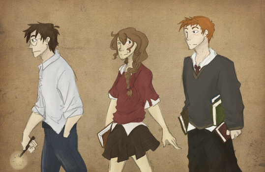 golden trio by witchayl