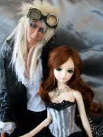 sarah and jareth do steampunk by Dollysmith