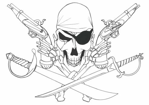 Guns and Swords.   A Pirates life for me. by NoelZepeda-ART