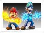 Mario and Luigi SS - Fire and Thunder by RatchetMario