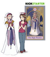 Kickstarter Day 4 - The High Priestess by HeartGear