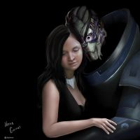 Garrus and Neras by Sylianna84