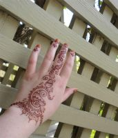 Henna Hand Design on Finger Stain by flowerwills