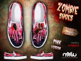 Pink Version- ZOMBIE shoes by corArze