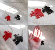 NERV - Neon Genesis Evangelion - Necklace by Tsurera