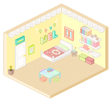 DaDe! Amelia's Room by b0uquet