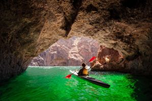 Kayak in Emerald Cave by porbital