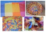 crocheted rug from sheets by Lildi